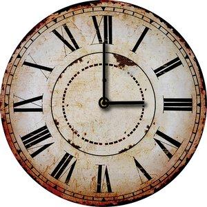 3308359-00000 Klassik Uhr UnifarbeBrown Cloc
