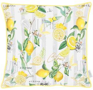 3571548-00000 Kissen gef.48x48cm Zitronen