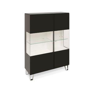 40 10 Cube Highboard schwarz Klarglas 2GT 110x143