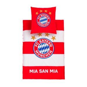 3455507-00000 Bettwäsche FC-Bayern rot-weiß
