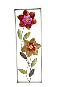 """3321529-00000 Deko-Wandbild """"Blumen"""" 89,5 cm"""
