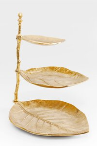 "3147563-00000 Etagere ""Leaf"" gold"