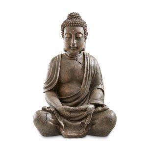 1985629-00000 Buddha 70cm sitzend Antikoptik