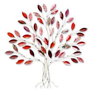 3127804-00000 Wanddeko Baum Met.91x84x8 cm