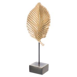 3364657-00000 Skulptur Blatt goldfarben