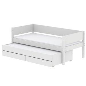 48 Flexa White Einzelbett mit Ausziehbett und Schubladen