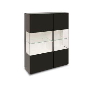 40 10 Cube Highboard schwarz Klarglas 2GT 110x143 M010945-00000