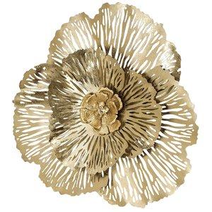 3224562-00000 Wanddeko Fleur D78cm B7cm gold