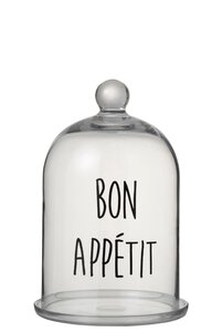 "3570395-00000 Glasglocke ""Bon Appetit"""