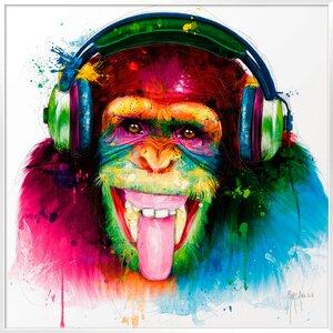 3327580-00000 Murciano,DJ Monkey 70x70 cm