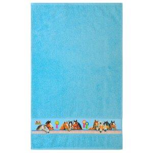 3443355-00000 Handtuch Pferdefreunde blau
