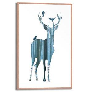 3322840-00000 Double Exposure Deer 20x30 cm