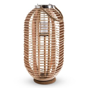 3300127-00000 Laterne Bambus mit Metall-