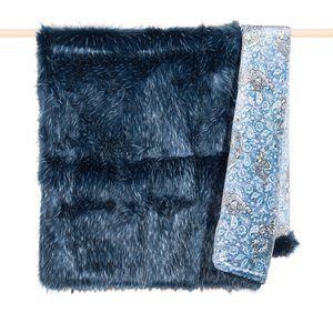 3447733-00000 140190 Decke Denim faux fur