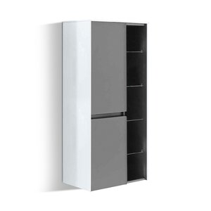 Solitaire 6010 Midischrank mit Regal grau M020579-00000