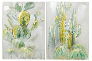 3223628-00000 Wandbild Kaktus 2tlg. 75x100cm