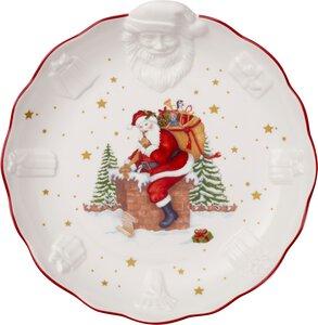 3352569-00000 Schale m.Santa Relief 25x26 cm