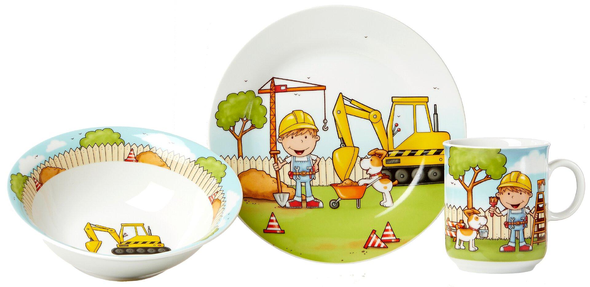 Kinderservice Bauarbeiter 3tlg.