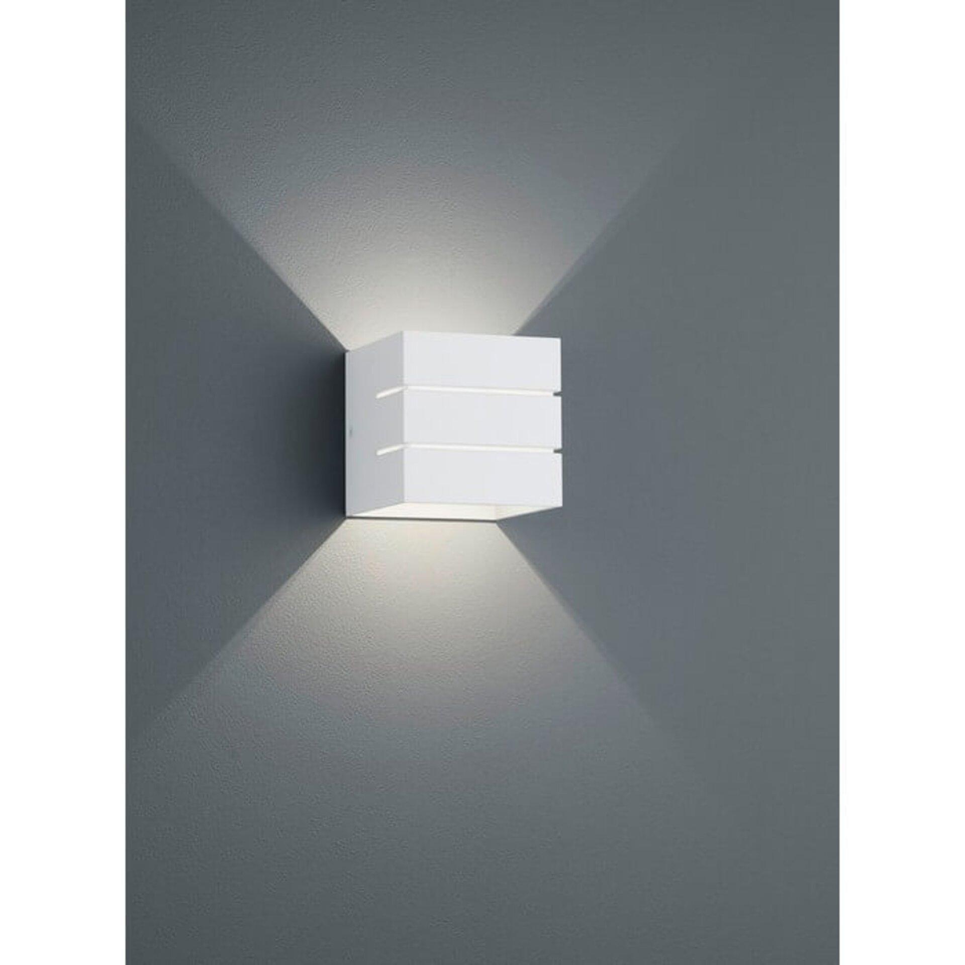 LED-Wandleuchte, Alu, weiß