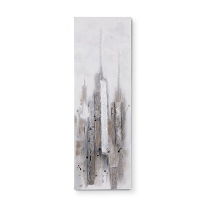 3134166-00000 Original Abstrakt grau/weiss