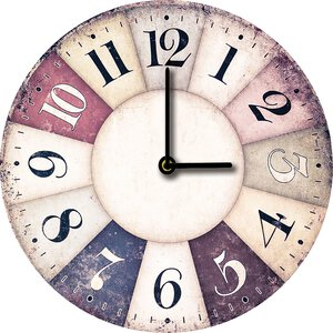 3308350-00000 Klassik Uhr UnifarbeColoured C