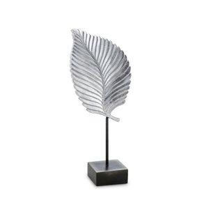 3364651-00000 Skulptur Blatt silberfarben