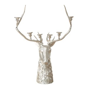 3364934-00000 Kerzenleuchter Hirsch H137cm