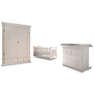 3550168-00000 Babyzimmer 4-tlg. weiß