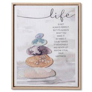 """3459896-00000 Kunstdruck """"Steine life"""""""