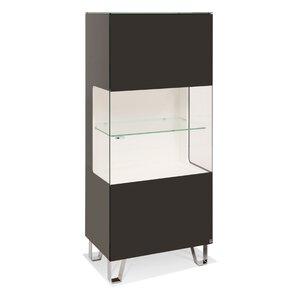 40 10 Cube Highboard schwarz klarglas 1GT 63x143