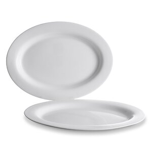 1875766-00000 Platte oval, weiß,Bone China
