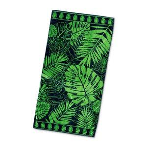 """3462623-00000 Strandtuch """"Palme"""" grün"""