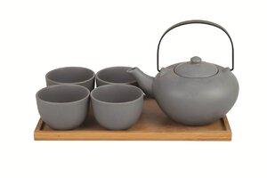 3228434-00000 Teeset 6 tlg. grau Steinzeug