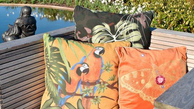 Madison Gartenauflagen Gelb/Orange