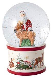 3490093-00000 Schneekugel Santa u Hirsch