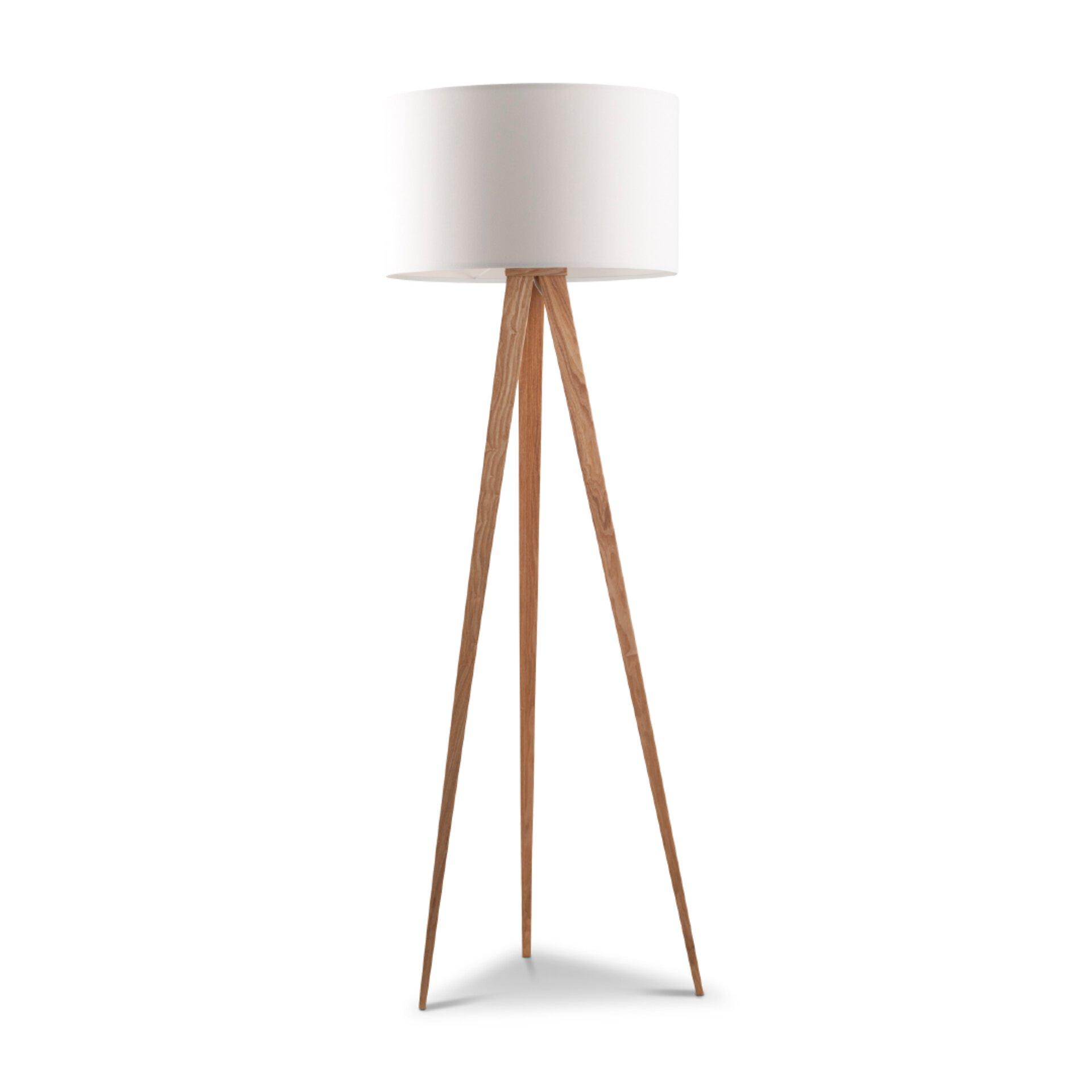Stehlampe von Zuiver in weiss und Holz
