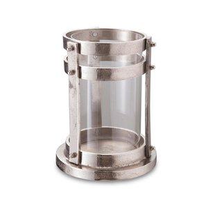 2990219-00000 Windlicht Aluminium mit Glas