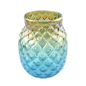 3245849-00000 Glasvase blau handgefertigt