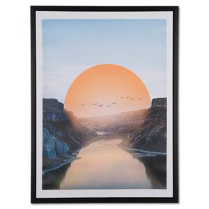 """3379289-00000 Druck """"Berge, Sonne, Fluss"""""""