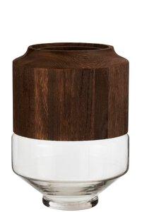 3570381-00000 Vase dunkelbraun M
