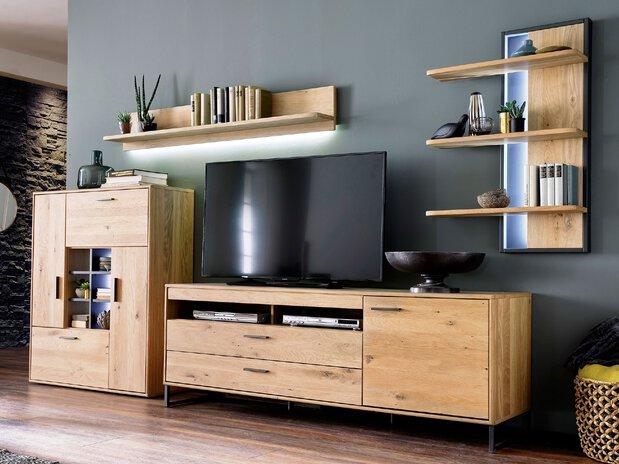 Wohnzimmer Wohnwand Portland MCA furniture