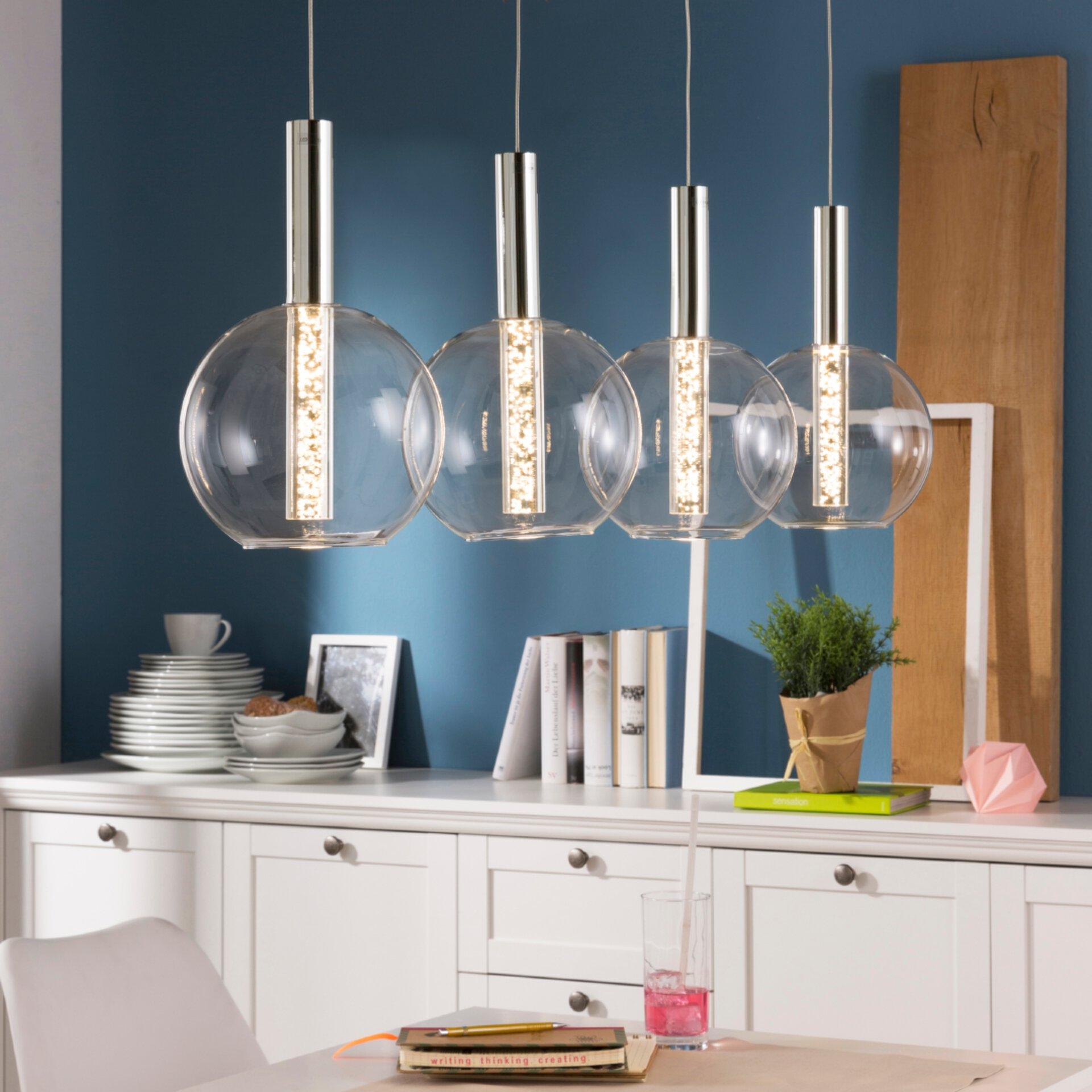 LED-Pendelleuchte aus Glas, höhenverstellbar