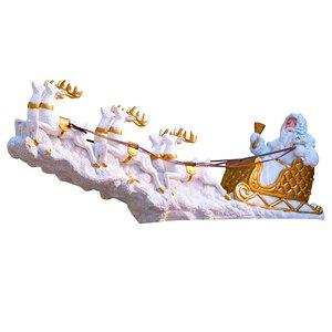 3258695-00000 Weihnachtsmann weiss/gold