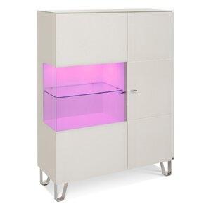 40 10 Cube Highboard weiß Klarglas 1GT 110x145