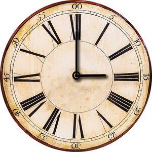 3308352-00000 Klassik Uhr UnifarbeBrown Cloc