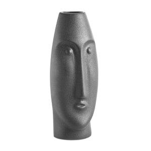 """3584790-00000 Vase """"Gesicht"""" schwarz"""