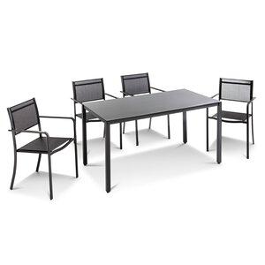 3588302-00000 Tischgruppe schwarz 5tlg