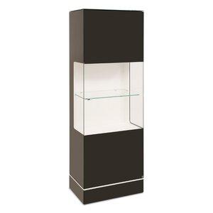 40 10 Cube Vitrine schwarz Klarglas 63x177 M010936-00000