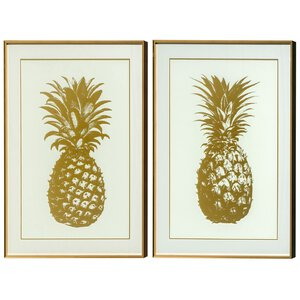 3224655-00000 Wandbild Ananas 2er-Set Metall