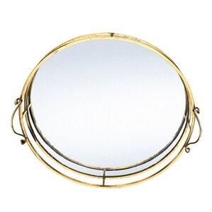 3368063-00000 Tablett Spiegel gold rund